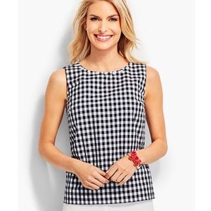 Talbots Gingham Beaded Collar Blouse Size 16W